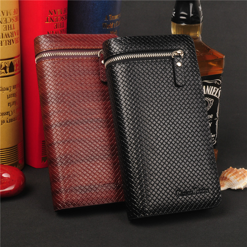 Classic Long Organizer Men Wallets Large Capacity Purse Card Holder Phone Pocket Diamond Lines Leather Man Wallet Money Bag<br><br>Aliexpress