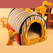 Dog Cushion House Pet Beds Fleece Puppy Pads Pomerania Neat Removal Houses Mechanism Beds Slaapzak Hond Pets Supplies 60Z1352