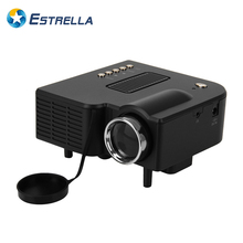 Excelvan UC28 Portable LED Projector Cinema Theater PC&Laptop VGA/USB/SD/AV/HDMI Input White Mini Pocket Projector