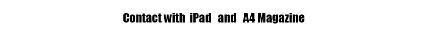 CONTACT ipad and magazine