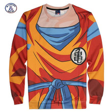 Mr.1991INC&Miss.GO brand sweatshirt boys spring autumn cartoon Dragon Ball Z hoodies 3D print Children's Clothing 12-20 Years(China)