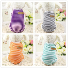 Classic Striped Dog Clothes for Dogs Summer Cotton Soft Puppy Chihuahua Vest Clothing for Small Dogs Cats Pet T-shirt XS-XXL(China)