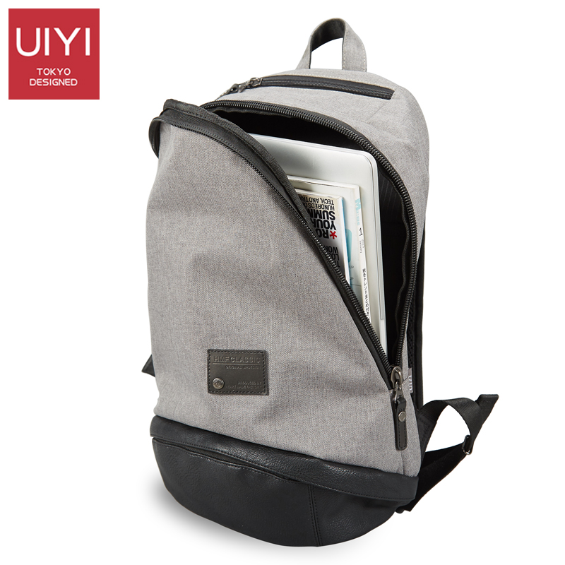 UIYI Oxford Men school gray backpack College Style School Backpack High Quality 2017 Student Bag #UYQ7010<br>