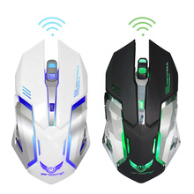 2.4G Wireless Mouse Rechargeable 6 Buttons Computer Mouse Sem Fio 7 Color Led Backlight Gaming Mouse Steelseries for Pro Gamer