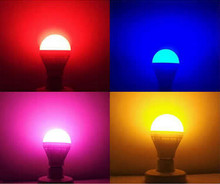 LED E27 colorful bulb Blue 220V Green E27 Purple 220V E27 Yellow BULB rgb Pink energy saving bulb 3w(China)