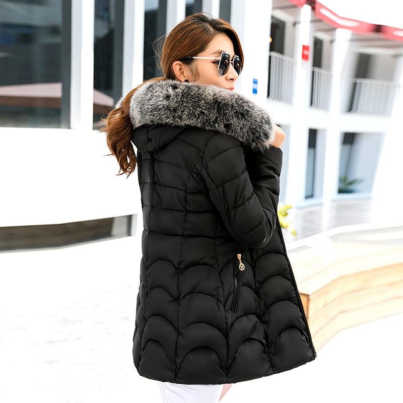 Ukraine New Arrival Solid Zipper Thick Full 2016 New Winter Coat In Korean Long Size Slim Down Jacket Female Ladies ThickeningÎäåæäà è àêñåññóàðû<br><br>