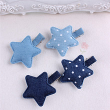 Buy Denim Little Star Hair Clip Baby Girls Polka Dots Hairpin Barrettes Kids Children Teen Girls Hair Accessories Daily Headwear for $1.53 in AliExpress store