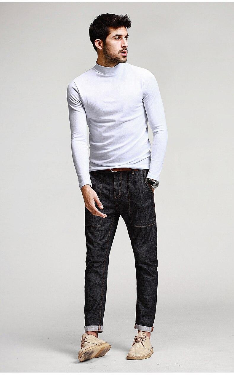 HTB140RpNFXXXXciXFXXq6xXFXXXf - KUEGOU Mens Casual T Shirts 5 Solid Color Brand Clothing For Man's Long Sleeve Slim T-Shirts Male Wear Plus Size Tops Tees 803