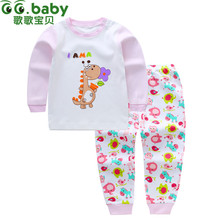New Floral Baby Girls Clothing Set Toddler Baby Boy Outfits For Babies Girl Pajamas Sets Kids Suit Infant Girl Children Clothes