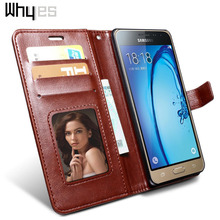 Whyes For Samsung J3 Case J320F Photo Frame Wallet Phone Cover Retro Leather Flip Cases For Samsung Galaxy J3 2016 Case J 3 6(China)