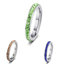 Ring Fashion trends jewelry mud sticky drill color rings women's fashion accessories Rings for women(China)