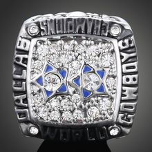 fashion off white crystal,silver NFL championship ring 1977 Dallas cowboy championship ring dallas cowboys jerseys for men gifts