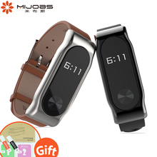Buy Mijobs 2 Style Genuine Leather Strap Smart Watch Band Mi Band 2 Strap Wrist Screwless Bracelet Xiaomi Mi Band 2 Smart Watch for $7.85 in AliExpress store