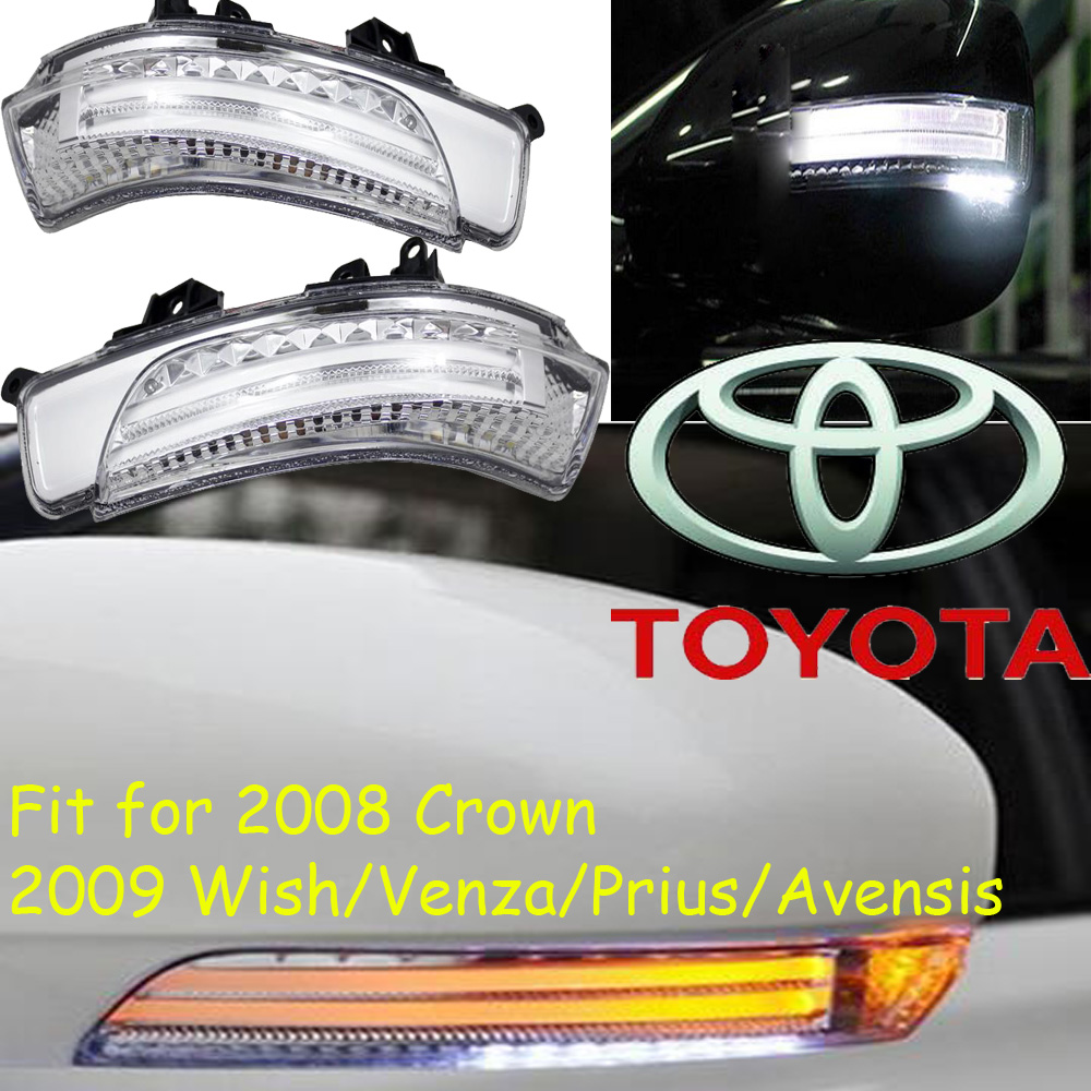 car-styling,Wish Mirror light,Venza,Free ship!2pcs,Prius mirror light;car-covers,chrome,Avensis turn light; 2008 crown<br>