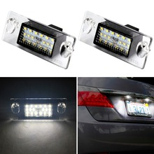 Car-styling 18SMD Led license plate light T10 For Audi A4 B5 1996~2000 A3 8L Facelift 1996~2000 Number Plate Lights Lamp