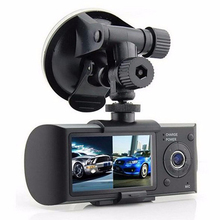 "R300/X3000 Dual Lens 2.7"" LED Display Full HD 720P Car Camera Video Recorder With Rearview Mirror G-Sensor Car DVR Car Camera"