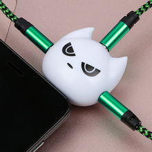 Lovely Bat 1 Male 3 Female Earphone 3.5 Jack Audio Cable Adapter Dust Plug Music Share Splitter Apple Iphone PC MP3 MP4