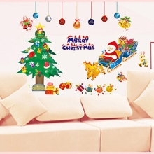 Christmas decorations for home wall stickers Christmas PVC Removable Display Window Showcase Decor navidad natal @026