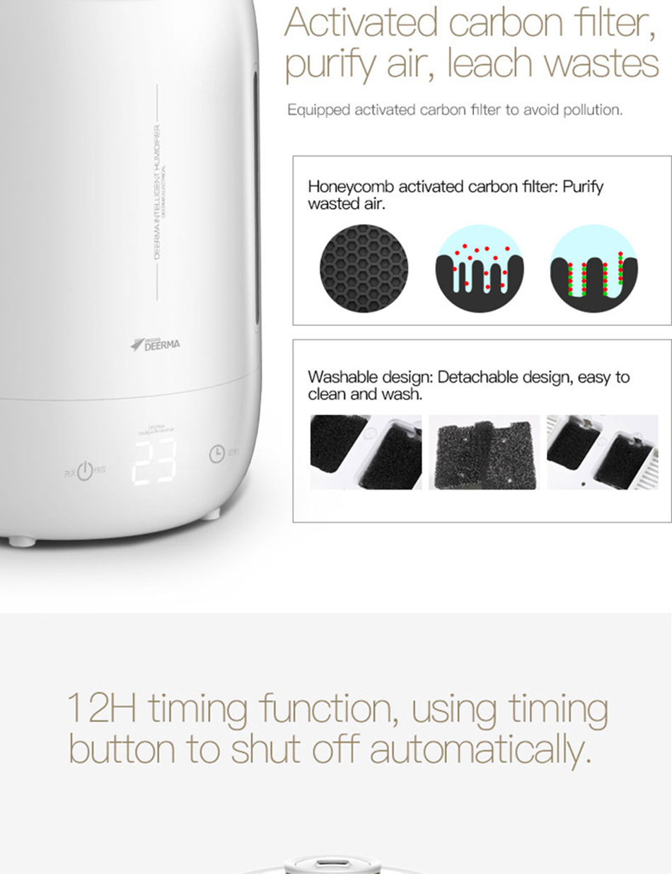 Xiaomi Mijia deerma 5L Air Home Ultrasonic Humidifier Touch Version Air Purifying for Air-conditioned rooms Office household D5 (19)