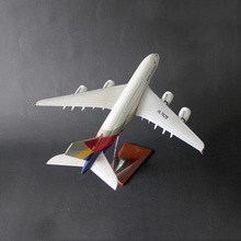 HaoKu children's Toys Collection Hobbies Resin aircraft model Korea Airlines A380 simulation Airplanes Decoration kids toy(China)