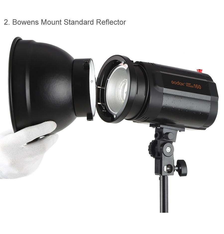 ANDOER 7 pulgadas Reflector cuadrícula Bowens Monte para Flash Estroboscópico Godox Yongnuo Bowens