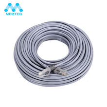 MEMTEQ 30M Ethernet Cables Flat CAT5E UTP Modem Router RJ45 gold Connector Network Internet Cable Snagless Patch LAN Cable(China)