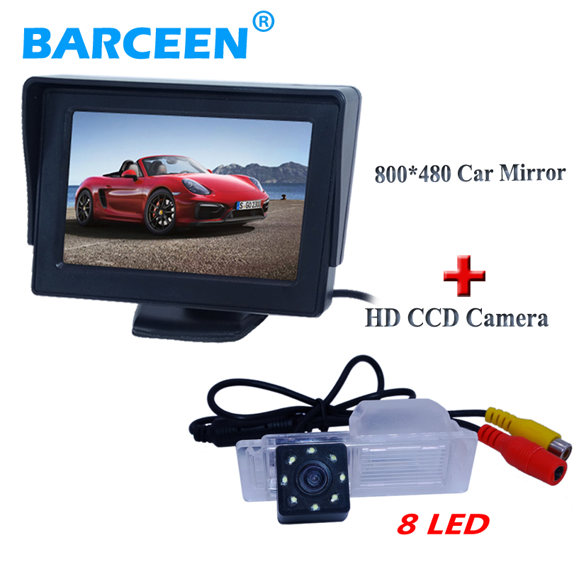 "In-Dash lcd screen 4.3"" car parking monitor with for original car rearview camera 8 led use for Chevrolet Cruze hatchback(China)"
