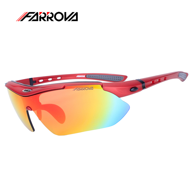 Farrova Polarized Bike Goggles UV 400  Outdoor Sport Sunglasses  for Running Hiking Cycling Bicycle Mtb Eyewear with 5 Lenses <br>