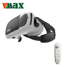 "RITECH VMAX VR 3D Box Virtual Reality VR Glasses Support 4.7-6.0 "" IOS Android Mobile Phones + Bluetooth Gamepad for 3D Games"