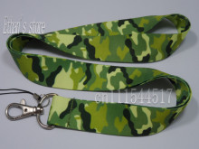 Free Shipping ONE PC Camo Key lanyard Army Green Mobile Neck Strap ID Holders(China)