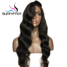 Sunnymay Side Part Full Lace Human Hair Wigs For Black Women Pre Plucked Body Wave Full Lace Wigs Human Wigs 150% Density(China)