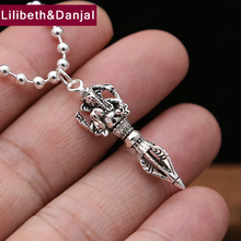 2017 Men Women Thailand Pendant 925 Sterling silver Trinity God Vajra Instruments Pestle Necklace Pendant gift Fine Jewelry FP42(China)