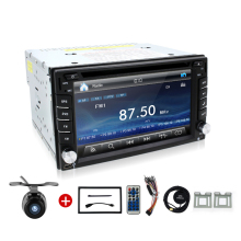 "Universal 2Din 6.2"" In Dash Car DVD Player Radio Auto GPS/FM/USB/SD/Bluetooth/ HD digital touch screen full popular function CAM(China)"