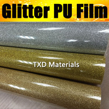 High quality Glitter PU transfer vinyl for Tshirts with size:50CMX25M/Roll, Transfer PU GLITTER vinyl for garments