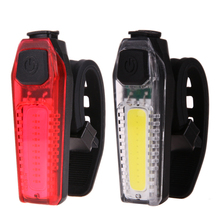 120lm Bike Bicycle Tail Light Waterproof Cycling Tail Lamp Riding Rear Light Outdoor LED Light USB Backpack Clip-on Lighting(China)