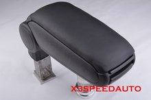 Free Shipping Black Leather Center Console Armrest For AUDI A6 1999-2004 2003 2002 2001 2000(China)