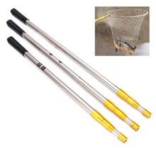 1.5/1.7/1.9m Head Ring Prong Harpoon Spear Rod Fish Dip Net Telescopic Bar Pole