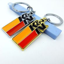 10pcs Wholesale 3D Metal Car Keychain Key Chain Turbo K&N Creat Keyring Key Ring For BMW Audi VW Ford Honda Car Chaveiro Llavero