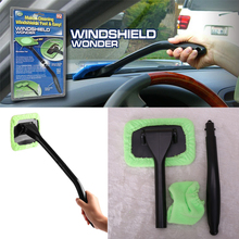 2017 New Car Auto Wiper Car Wash Microfiber Windshield Wonder Cleaning Tool Car Glas&Home Window Cleaner Towel With Spary Bottle