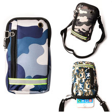 7Plus Universal Camouflage Package Multifunctional Cell Phone Bag Hanging Neck Wallet Outdoor Bag Pouch For iPhone 6S Huawei P10