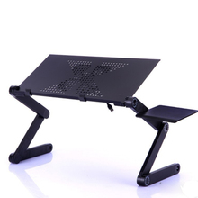 Adjustable Portable Laptop Table Stand Lap Sofa Bed Tray Computer Notebook Desk bed table with Mouse Board ZW-CD05(China)