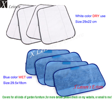 New arrival,Sweeper cleaning cloth, Microfiber cloth Mop Head replacement for 308t/320/4200/5200C.Dry and Wet use Mop Fabric(China)