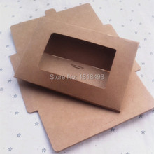 free shipping blank 350gsm kraft paper postcard envelope15.5x10.2x0.3CM/gift packing box/card packing box/tags 50 pcs a lot(China)