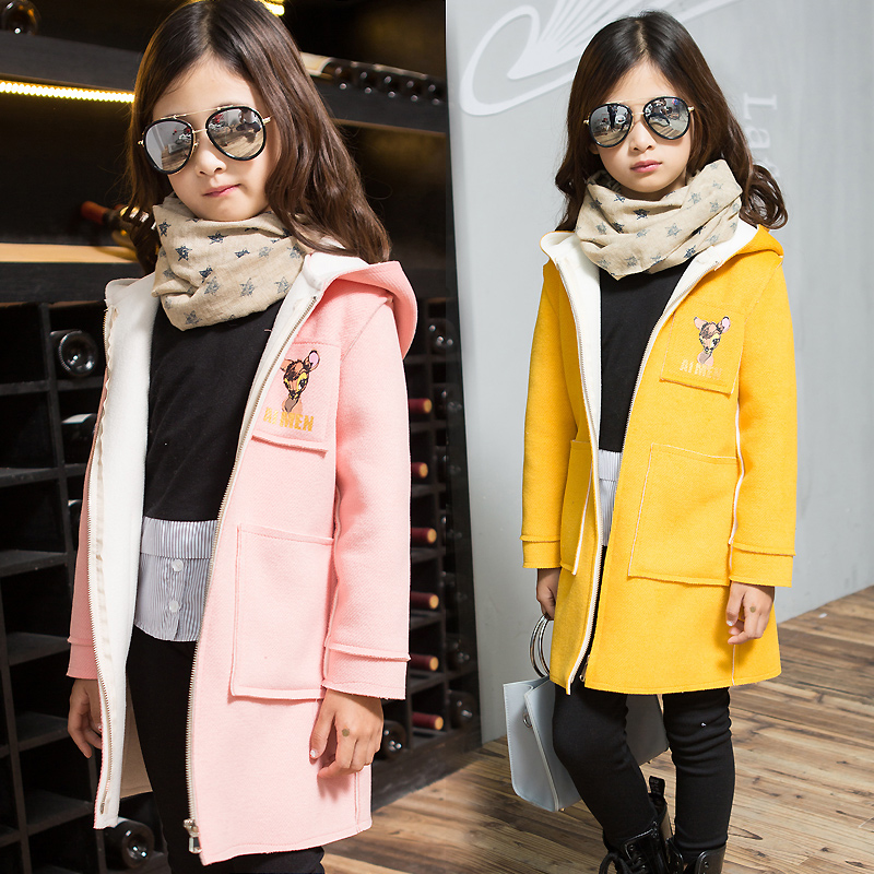 TUTUYU New Girls Coat Children Fashion Outerwear hooded long Christmas deer Kids Autumn winter Jacket Warm Girl Fashion Clothes<br>