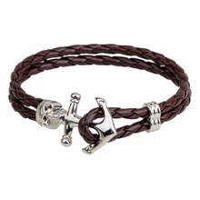 Accessories Punk Original Design Restore Ancient Ways Hand Decorate Wind Cowhide Bracelet for men qnw2194