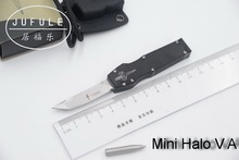 JUFULE 2018 Made Mini Halo V D2 blade aluminum handle camping survival outdoor EDC hunting Tactical tool dinner kitchen knife