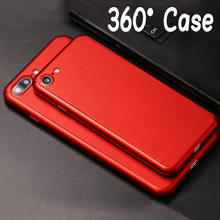 Hot Hybrid 360 Case Nanoskin Ultra thin Capa Cover For funda iPhone 7 6 6S Plus Phone Case+Clear Tempered Glass Screen Protector