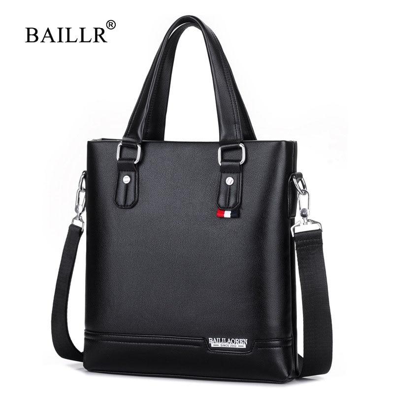 BAILLR Brand New Arrival Vertical Tote Briefcases Shoulder Handbag Tote Bag top-handle Casual pu Leather Men Crossbody Bags 2017<br>