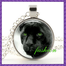Black Panther Pendant Necklace Animal Photo Cat Nature Jewelry Woman Gifts fashion jewelry for women Rare Wild Animal