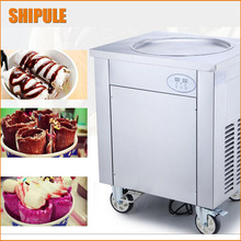thailand fry ice cream machine fried ice roll pan machine flat pan rolled fried ice machine ice cream rolls machine